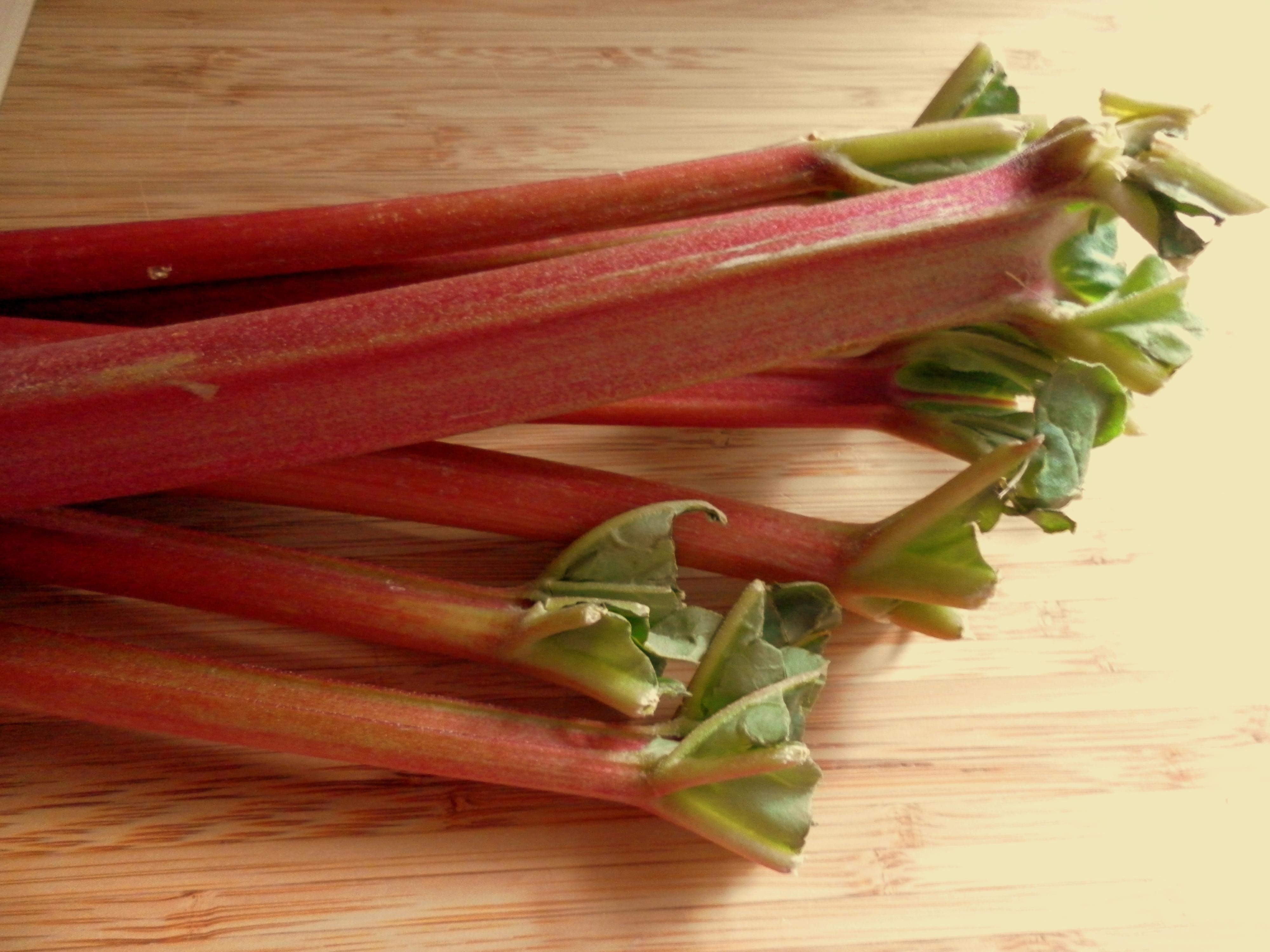 ... : Roasted Rhubarb with Cardamom & Saffron Ice Cream! | Yummy Chunklet