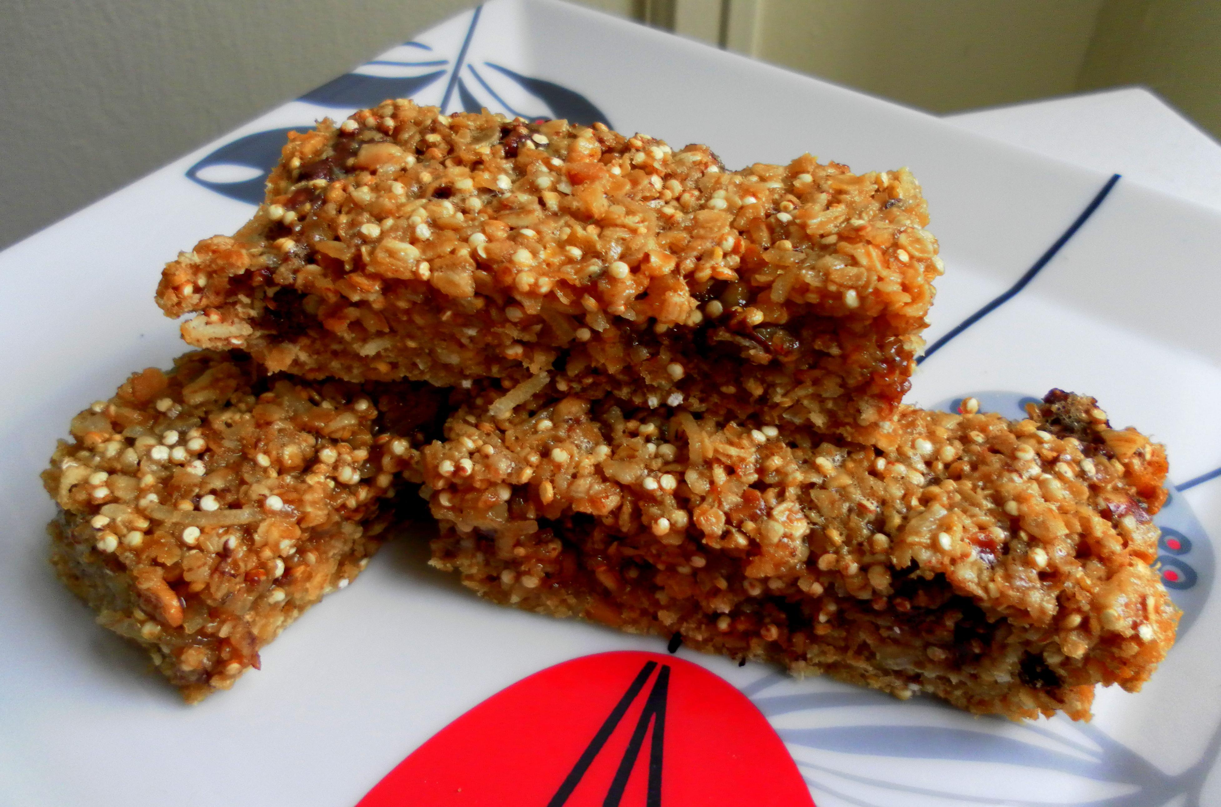 Quinoa Oatmeal Breakfast Bars | Yummy Chunklet