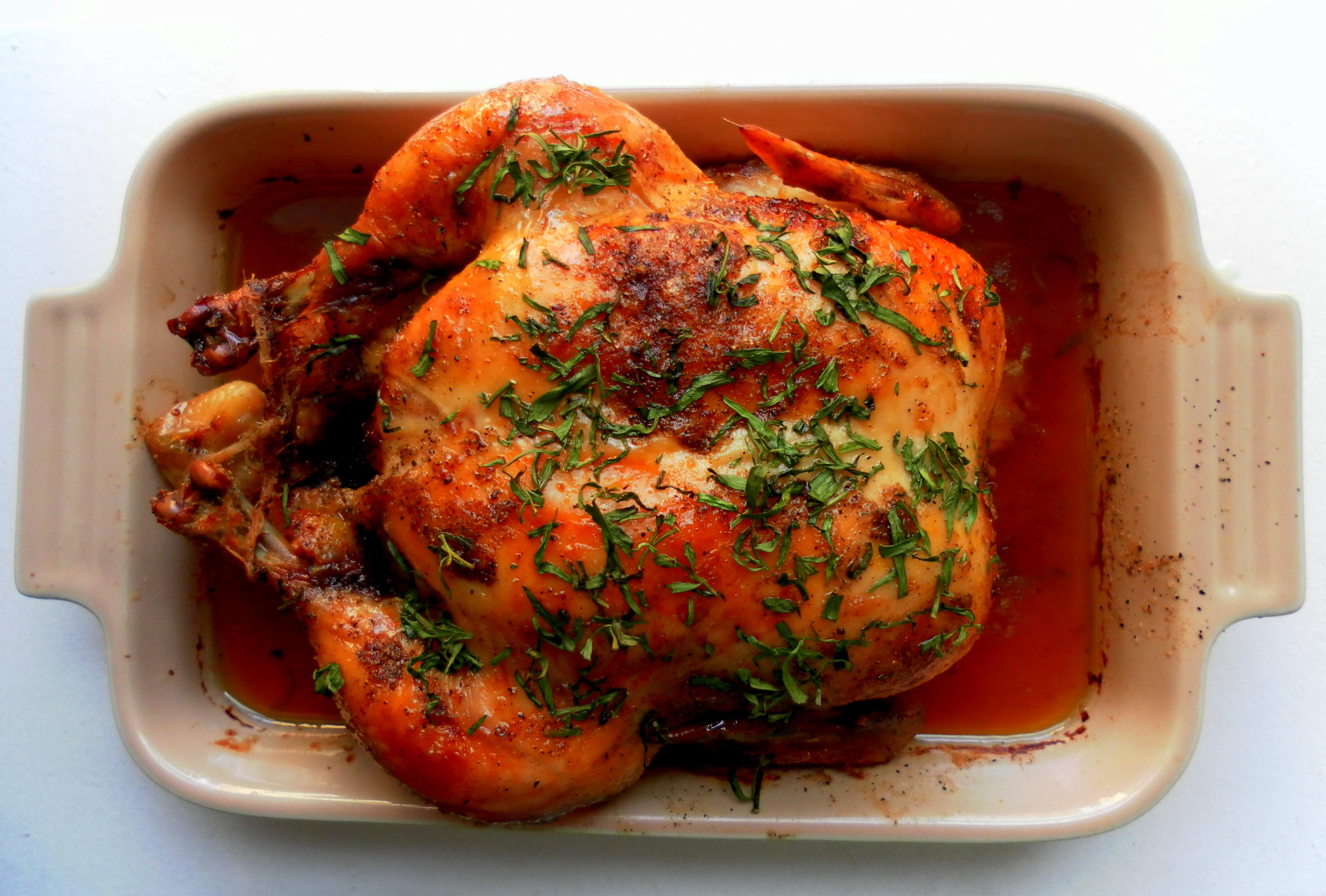 Курица в духовке целиком в медово рецепт
